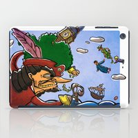 peter pan iPad Cases featuring Peter Pan by -PAPER HEART-