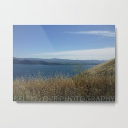 Grass. Lake. Mountain. Sky. Metal Print