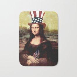 Patriotic Mona Lisa Bath Mat