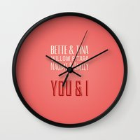 lesbian Wall Clocks featuring The Greatest Lesbian Couples by ElekTwick