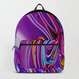Waves and swirls, abstract, decorative patterns, colorful piece no 24 Backpack