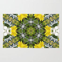 Kaleidoscope of showy St Johns Wort Rug