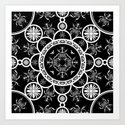 Scarab tile line pattern with black Background by pasob