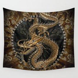 Dragon Pentagram Wall Tapestry