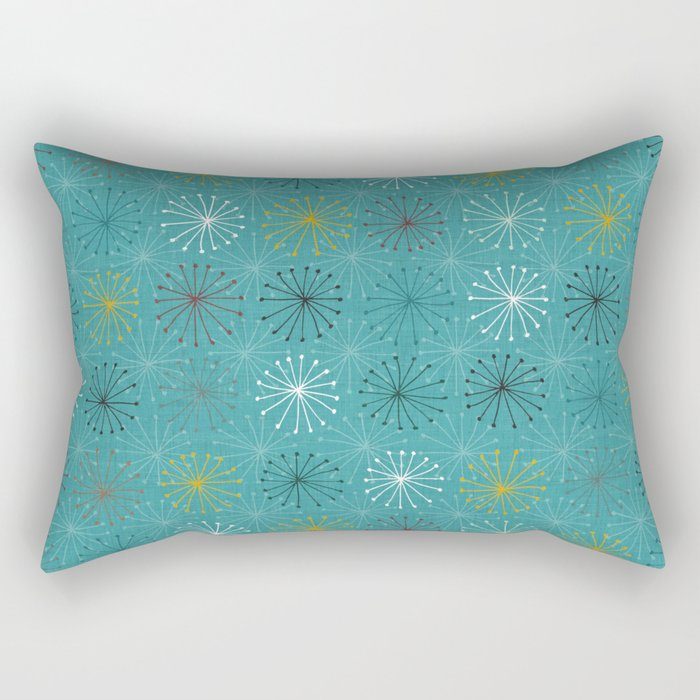 seedheads blue Rectangular Pillow