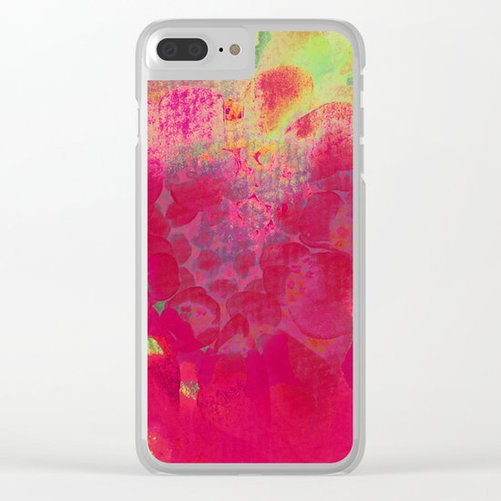 big abstract flower Clear iPhone Case
