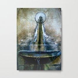 Fountain Bleu Metal Print