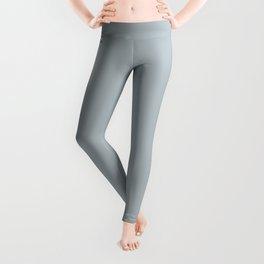 Slate Pale Blue Gray  Solid Color Inspired by Valspar Grey Brook 5001-1B Leggings