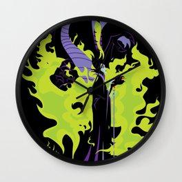 Maleficent Mistress of All Evil Wall Clock
