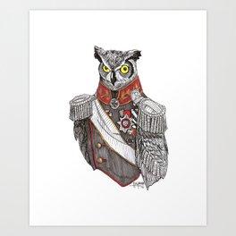 General Owlington Art Print