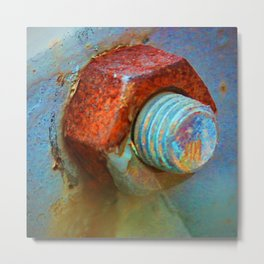 Nut and Bolt Metal Print