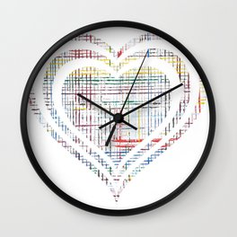 The System - heart Wall Clock