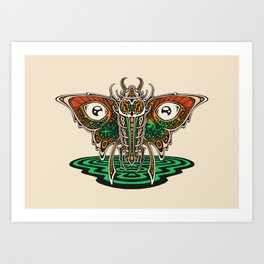 Cosmic Insect - Light Art Print