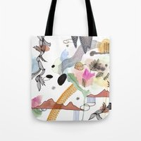 new year Tote Bags featuring New Year by Brooke Weeber