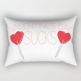 Valentines Day Sucks Rectangular Pillow
