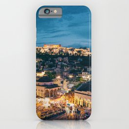 Athens Greece at Dusk iPhone Case