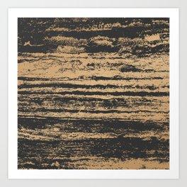 Marble Black Gold - N.O Art Print