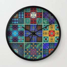 Vintage mosaic talavera ornament Wall Clock