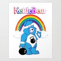 kettlebear blue Art Print