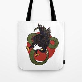 Eagle Vs Snake Tote Bag