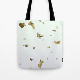 Gold Flakes Tote Bag