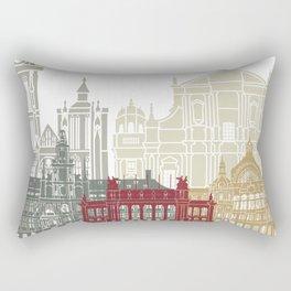 Antwerp skyline poster Rectangular Pillow