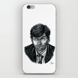 David Tennant as Broadchurch's Alec Hardy (or Gracepoint's Emmett Carver) (Graphite) Portrait  iPhone Skin