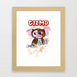GIZMO - GREMLINS ILLUSTRATION  Framed Art Print