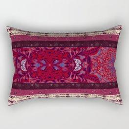 Patterns in Maroon - by Fanitsa Petrou Rectangular Pillow