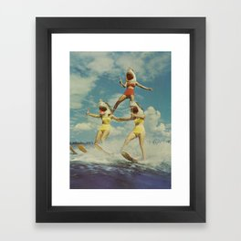 On Evil Beach - Sharks Framed Art Print
