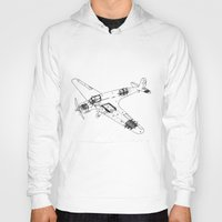airplane Hoodies featuring Airplane diagram by marcusmelton