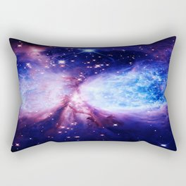 Galaxy : A Star is Born Blue Purple Rectangular Pillow