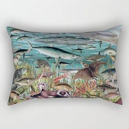 The Deep Blue Rectangular Pillow