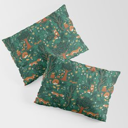 Foxes Playing in the Emerald Forest Pillow Sham
