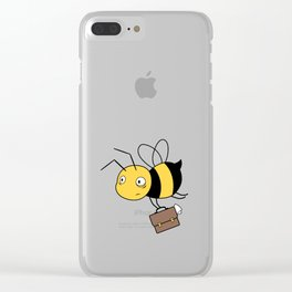 Beezness Bee Clear iPhone Case
