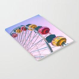 Santa Monica, Santa Monica Ferris Wheel, Colorful, California, Santa Monica Pier, Ferris Wheel, Cali Notebook