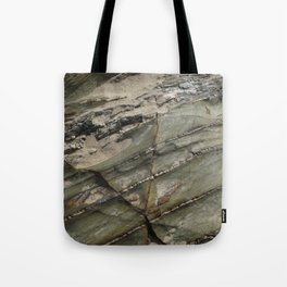 Sea Weathered Rock Texture with Sand Tote Bag