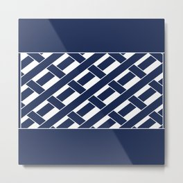 White and blue Metal Print