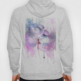 """Watercolor Painting of Picture """"Passion"""" Hoody"""
