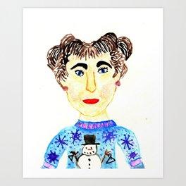 Wire Hanger Free Holidays Art Print