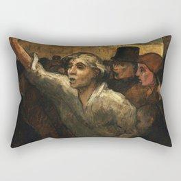 "Honoré Daumier ""The Uprising (L'Emeute)"" Rectangular Pillow"