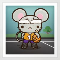 Matty the Sporty Mouse Art Print