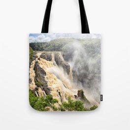 Barron Falls under a summer sky Tote Bag