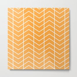 MAYA ((funky orange)) Metal Print