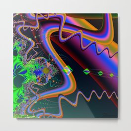 Neuromuscular Junction Metal Print