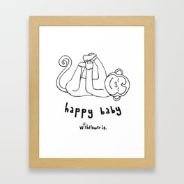 Happy Baby Monkey Framed Art Print