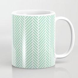 Herringbone Mint Inverse Coffee Mug