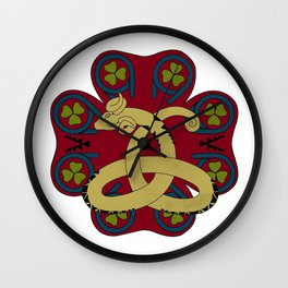 Horned Snake Wall Clock