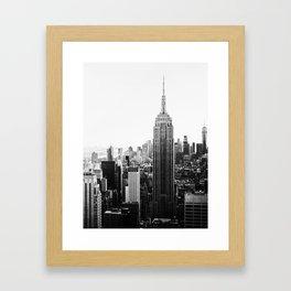 New York, Fashion art, Style, Scandinavian, Minimal, Trendy decor, Wall art Framed Art Print
