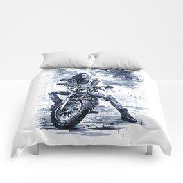Biker Girl Comforters